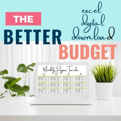 better budget excel digital download